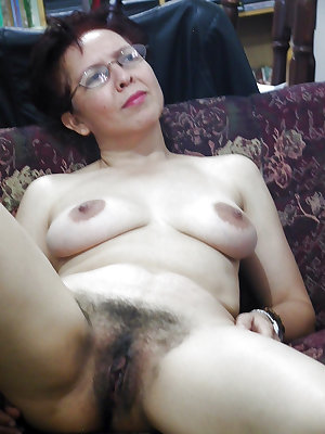 Hairy woman with sexy forms